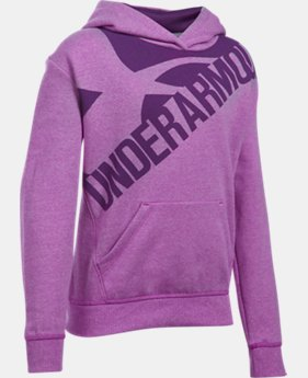 Girls' UA Threadborne™ Printed Fleece Hoodie LIMITED TIME OFFER 3 Colors $31.49