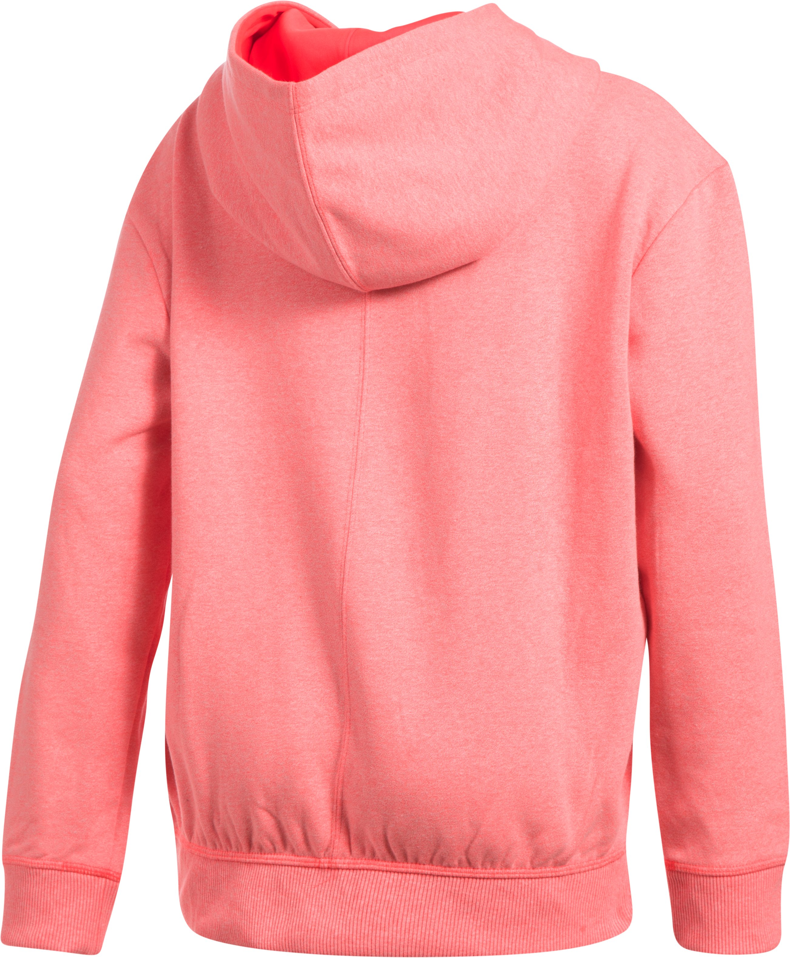 Girls' UA Threadborne™ Printed Fleece Hoodie, MARATHON RED, undefined