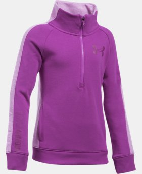 Girls' UA Stretch Fleece ½ Zip  1 Color $37.49