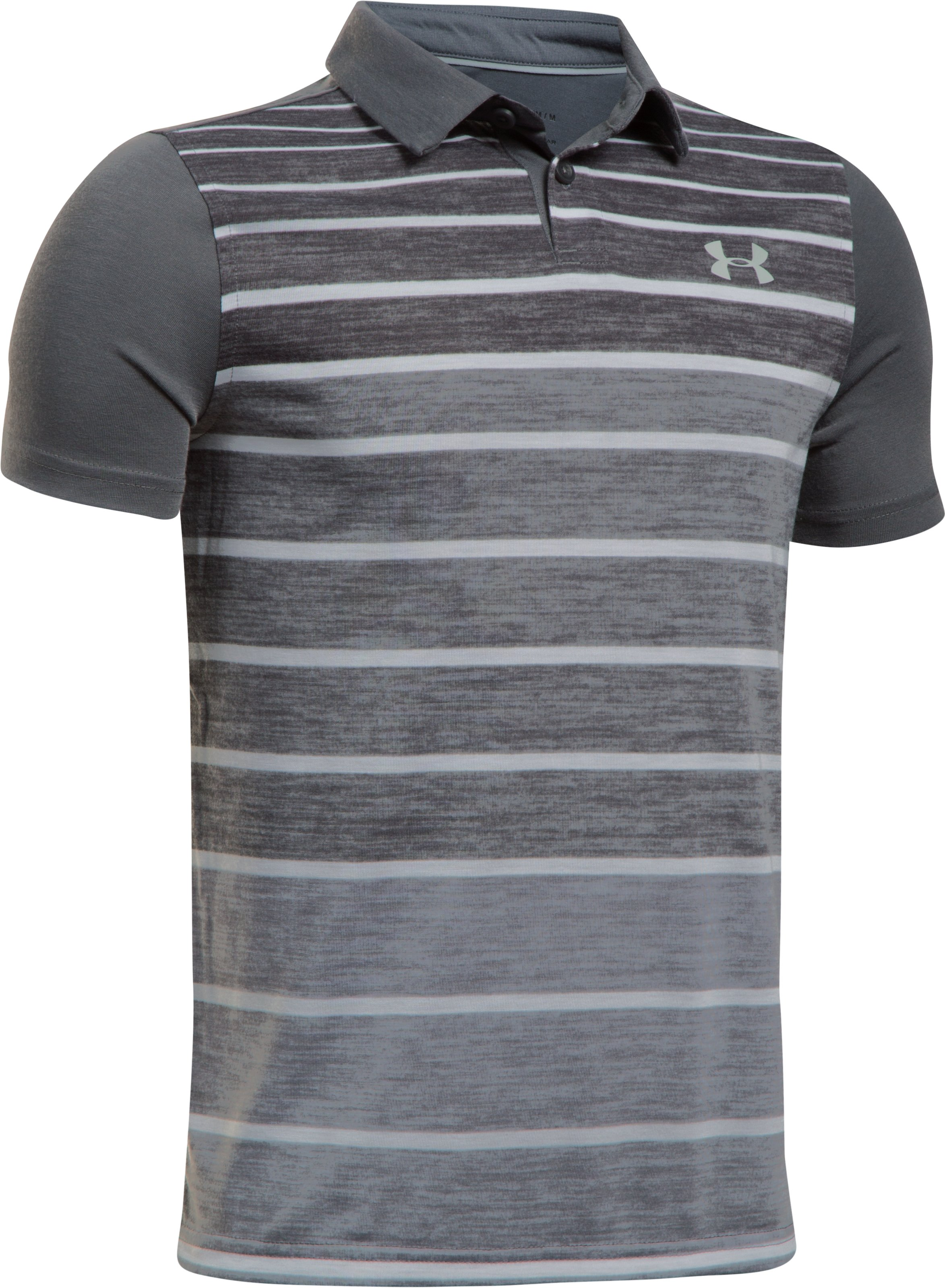 Boys' UA Threadborne Polo, RHINO GRAY