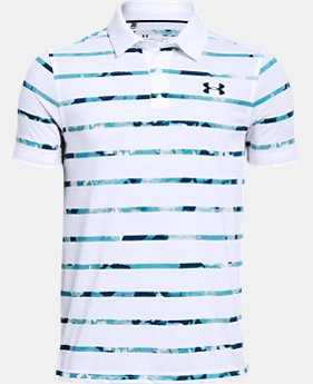 Boys' UA Threadborne Polo FREE U.S. SHIPPING 2  Colors Available $34.99