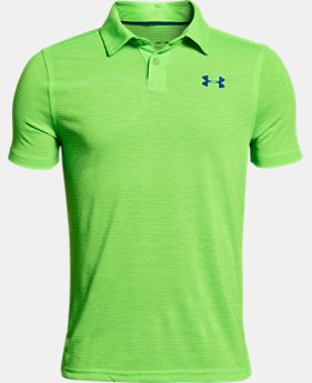 Boys' UA Threadborne Polo FREE SHIPPING 1  Color Available $34.99