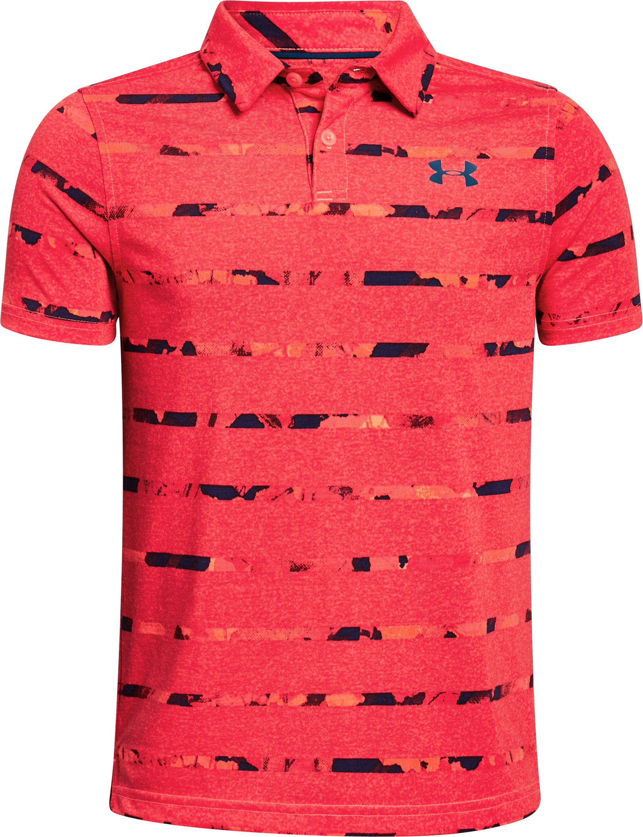 Boys' UA Threadborne Polo, AFTER BURN,