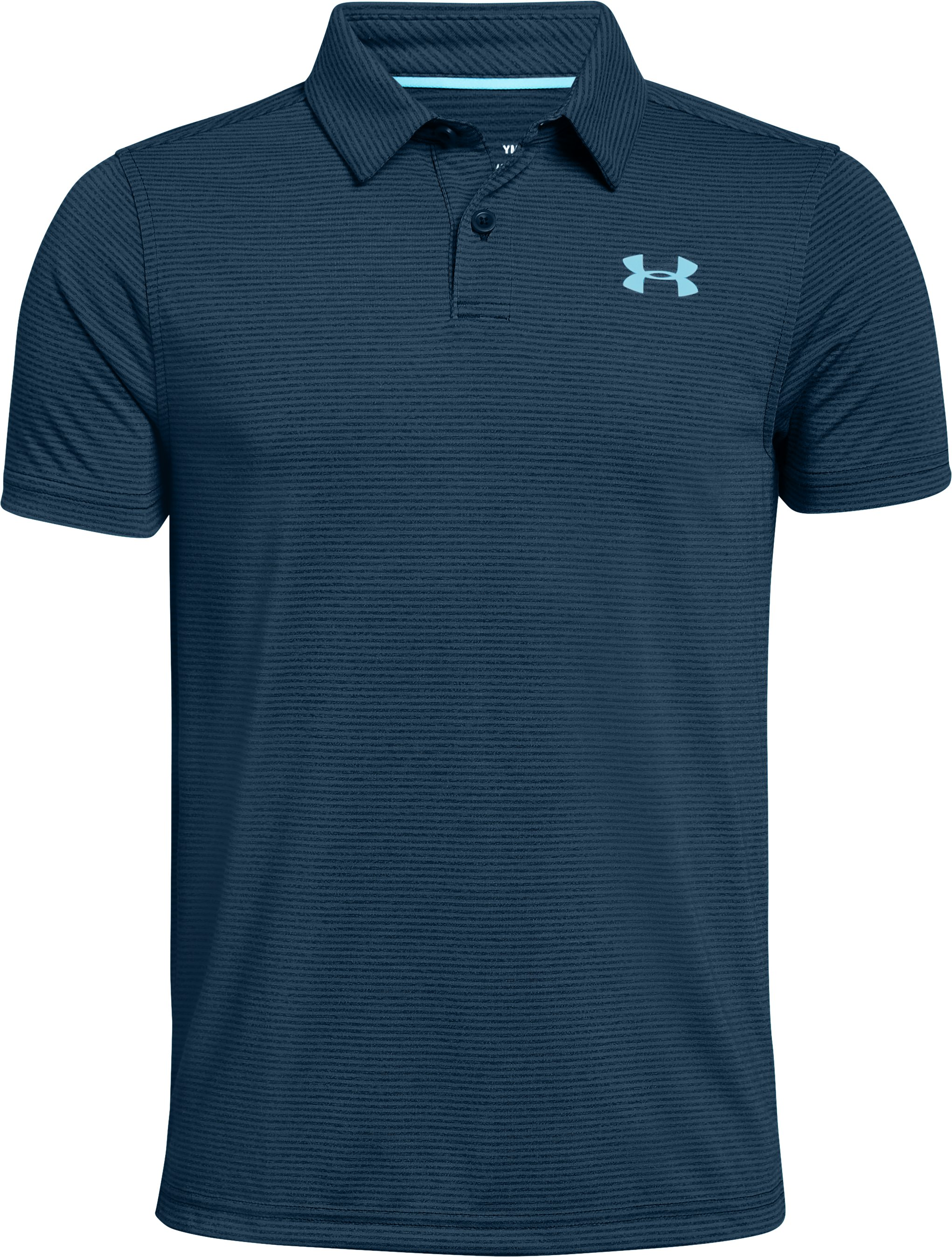Boys' UA Threadborne Polo, Techno Teal,