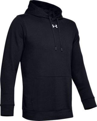 Under Armour Hustle Fleece Team Hoodie Youth 1300129 XL Black