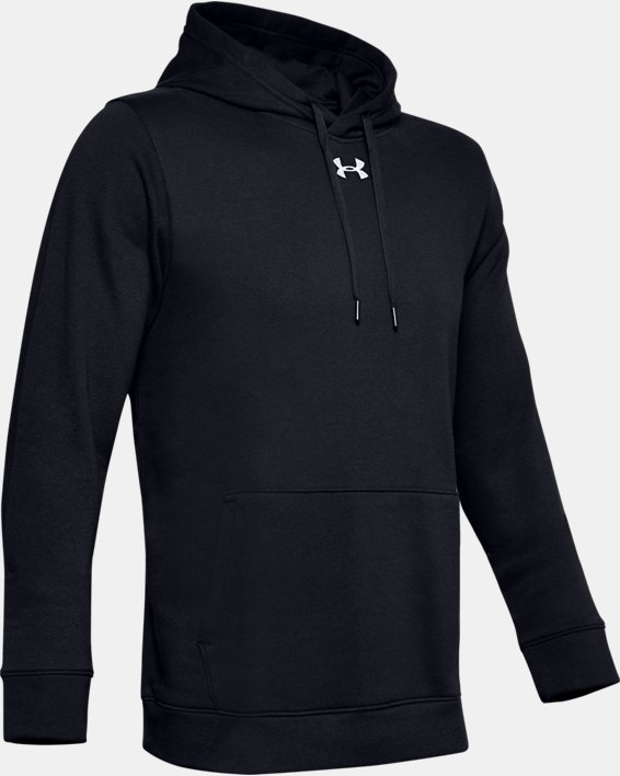 Men's UA Hustle Fleece Hoodie, Black, pdpMainDesktop image number 4