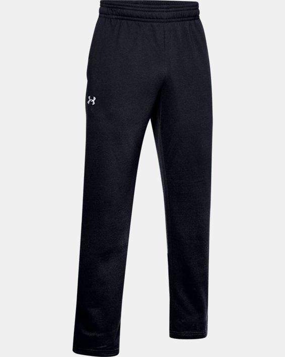 Men's UA Rival Fleece 2.0 Team Pants, Black, pdpMainDesktop image number 4
