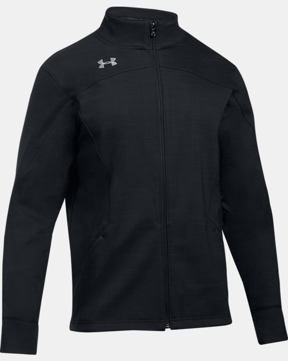 Men's UA Barrage Softshell Jacket, Black, pdpMainDesktop image number 4