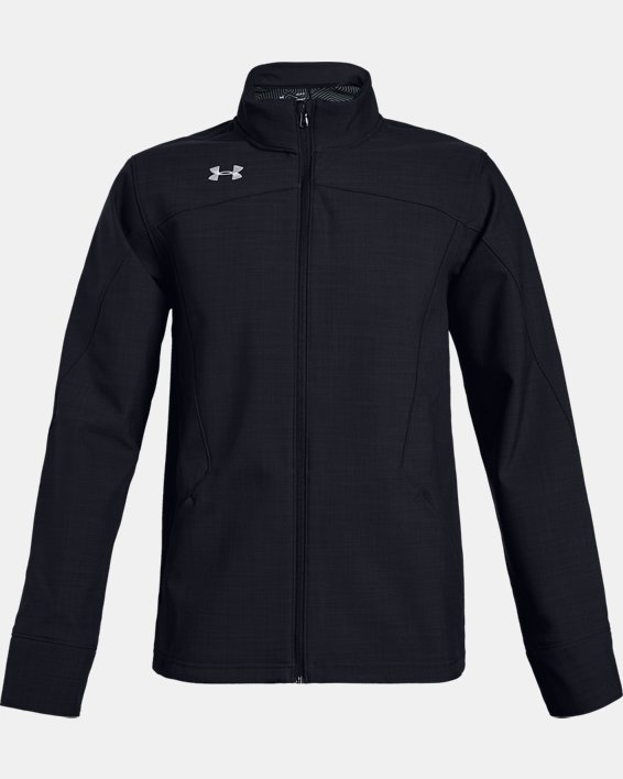 Men's UA Barrage Softshell Jacket, Black, pdpMainDesktop image number 5