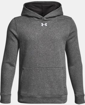 Boys' UA Hustle Fleece Hoodie LIMITED TIME ONLY 1  Color Available $27.99
