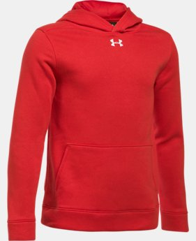 Boys' UA Hustle Fleece Hoodie  1  Color Available $39.99