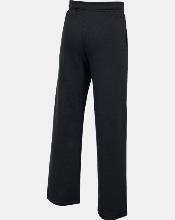 Boys' UA Hustle Fleece Pants, Black, pdpMainDesktop image number 3
