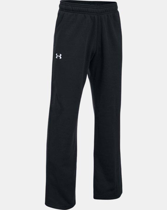 Boys' UA Hustle Fleece Pants, Black, pdpMainDesktop image number 0
