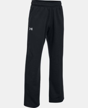 Boys' UA Hustle Fleece Pants 30% OFF ENDS 11/26 6  Colors Available $27.99