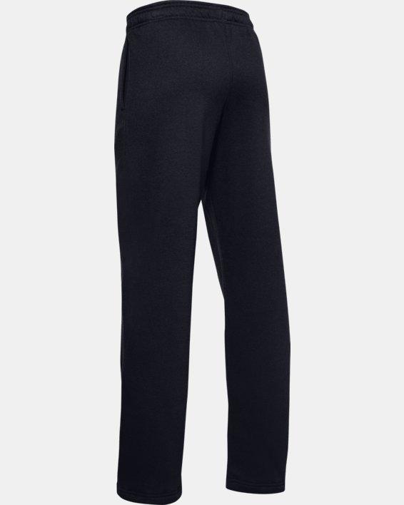 Boys' UA Hustle Fleece Pants, Black, pdpMainDesktop image number 2