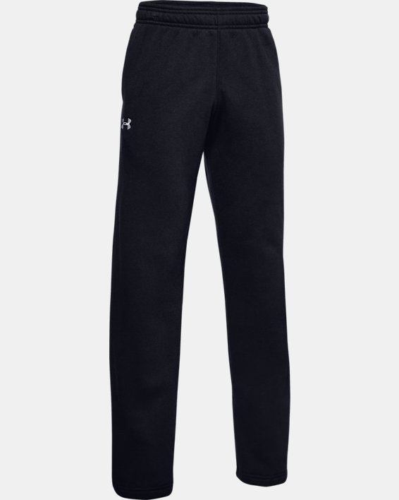 Boys' UA Hustle Fleece Pants, Black, pdpMainDesktop image number 1