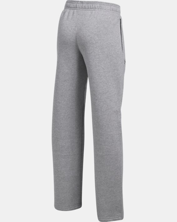 Boys' UA Hustle Fleece Pants, Gray, pdpMainDesktop image number 3