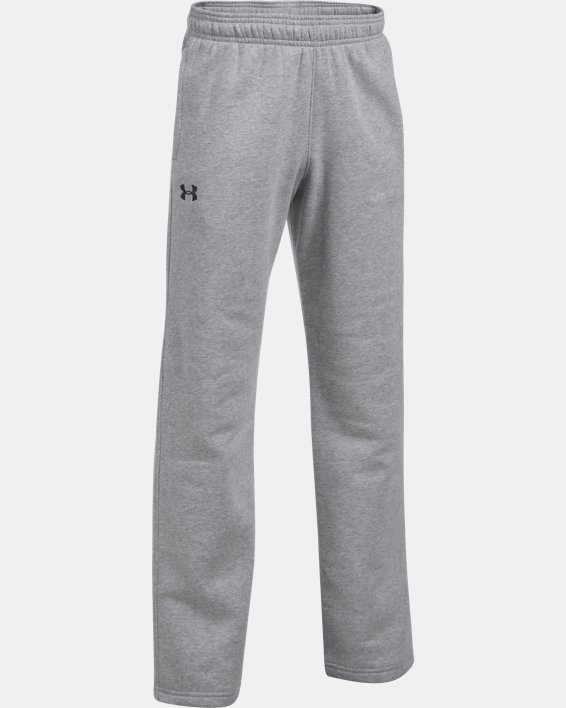 Boys' UA Hustle Fleece Pants, Gray, pdpMainDesktop image number 0