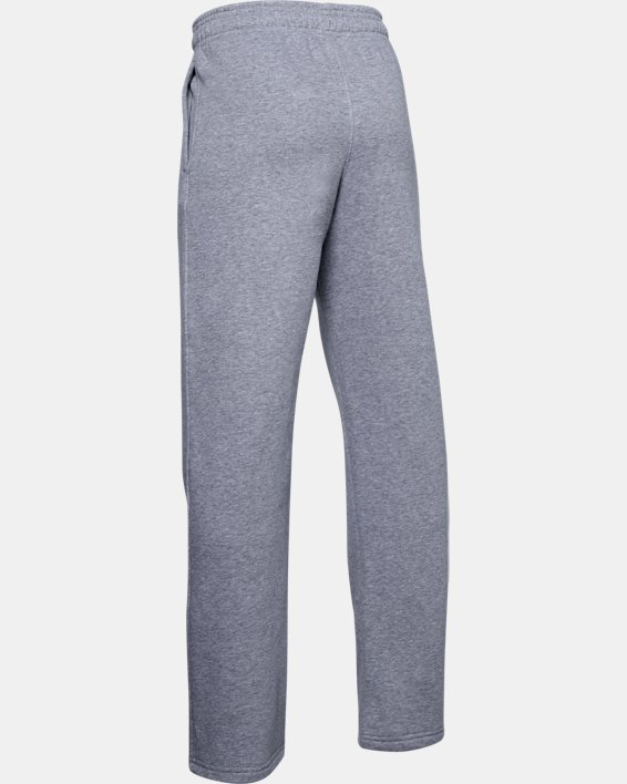 Boys' UA Hustle Fleece Pants, Gray, pdpMainDesktop image number 2