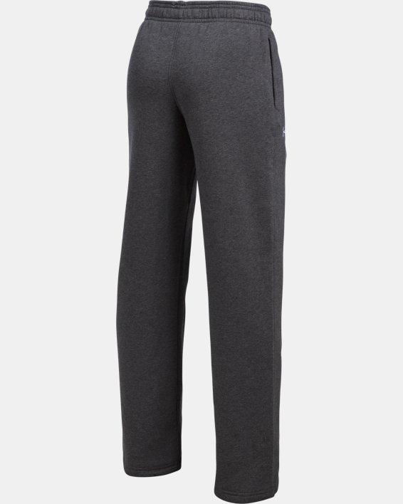 Boys' UA Hustle Fleece Pants, Gray, pdpMainDesktop image number 3