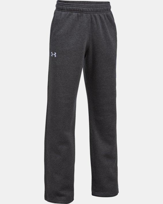 Boys' UA Hustle Fleece Pants, Gray, pdpMainDesktop image number 0