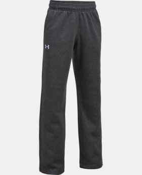 Boys' UA Hustle Fleece Pants  4  Colors Available $39.99