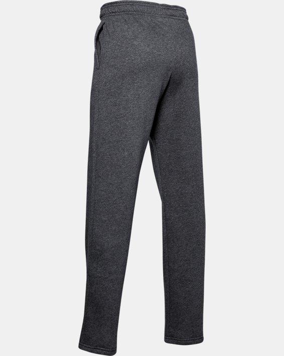 Boys' UA Hustle Fleece Pants, Gray, pdpMainDesktop image number 2
