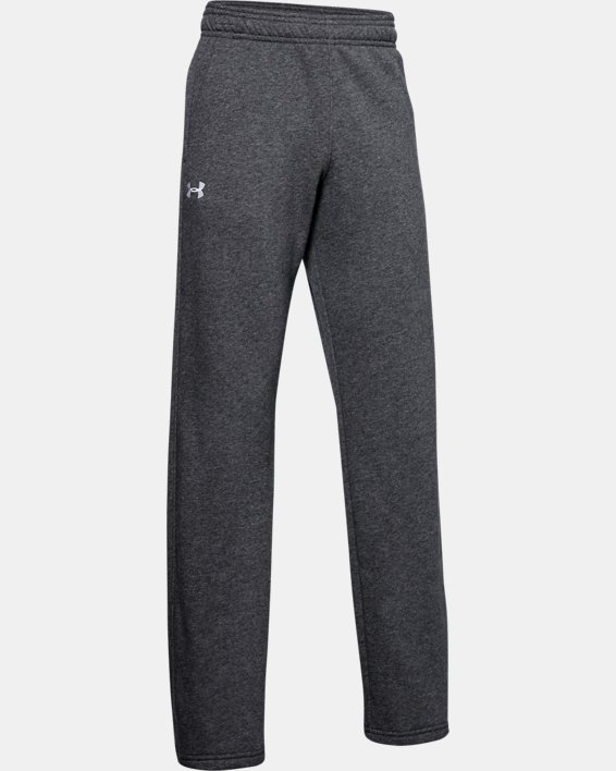 Boys' UA Hustle Fleece Pants, Gray, pdpMainDesktop image number 1