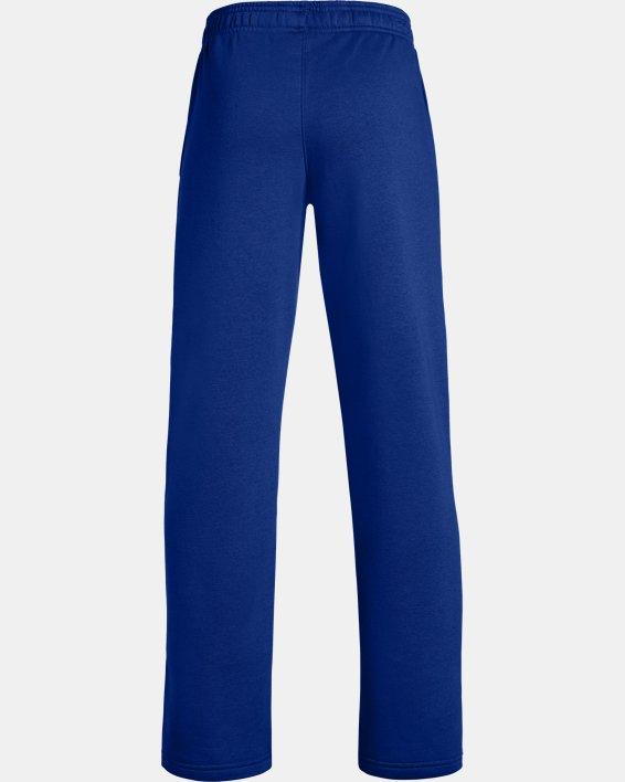 Boys' UA Hustle Fleece Pants, Blue, pdpMainDesktop image number 1