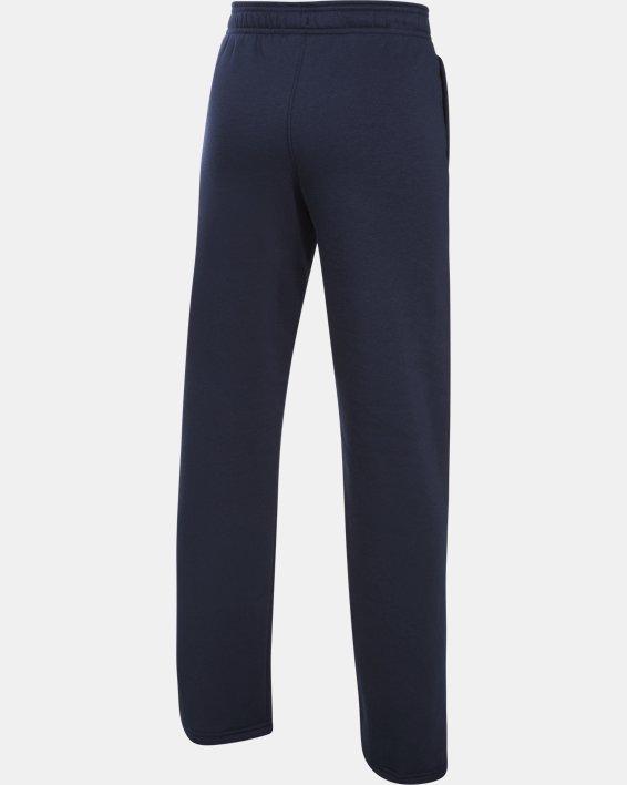 Boys' UA Hustle Fleece Pants, Navy, pdpMainDesktop image number 3