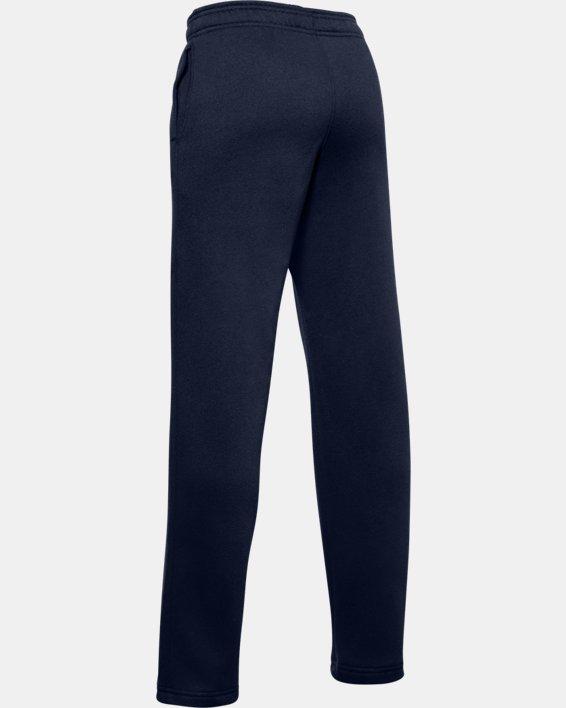 Boys' UA Hustle Fleece Pants, Navy, pdpMainDesktop image number 2