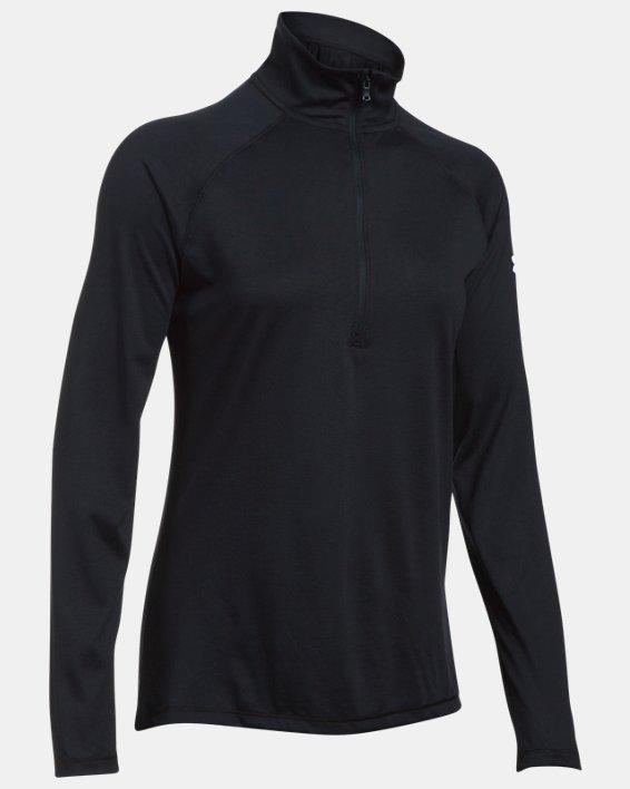 Women's UA Tech™ Corp ¼ Zip, Black, pdpMainDesktop image number 0
