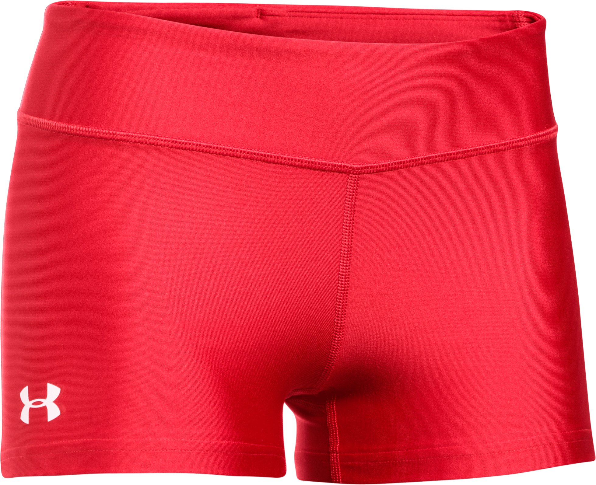 "Women's UA On The Court 3"" Shorts, Red,"