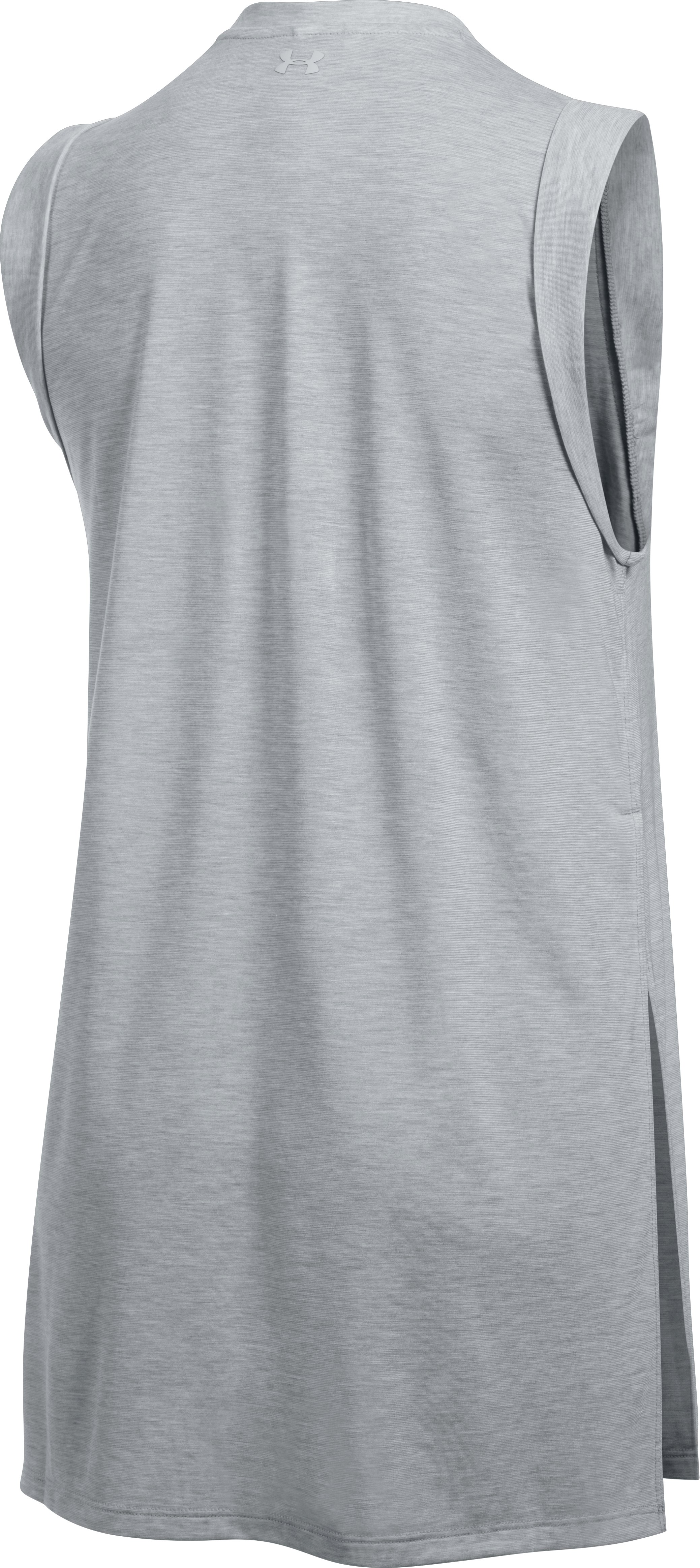 Women's UA Breathe Tunic Tank, True Gray Heather,