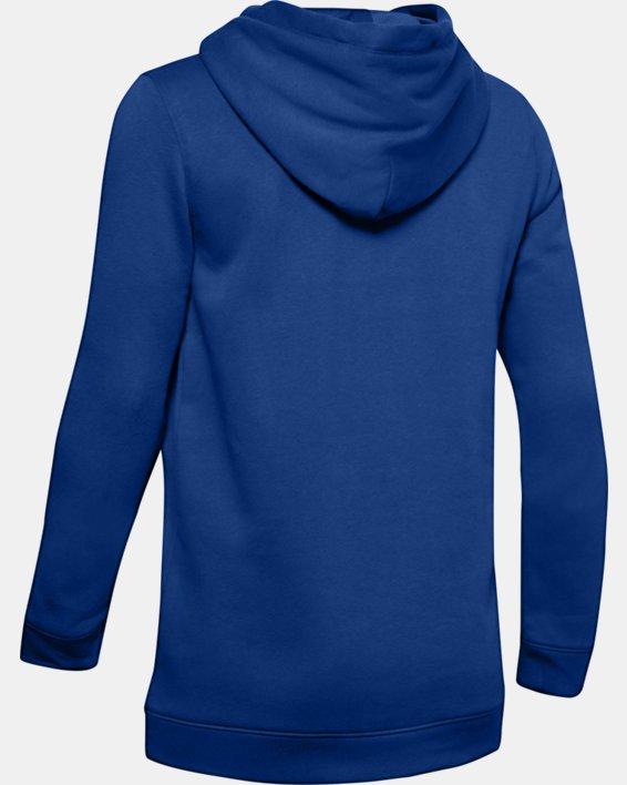 Women's UA Rival Hoodie, Blue, pdpMainDesktop image number 4
