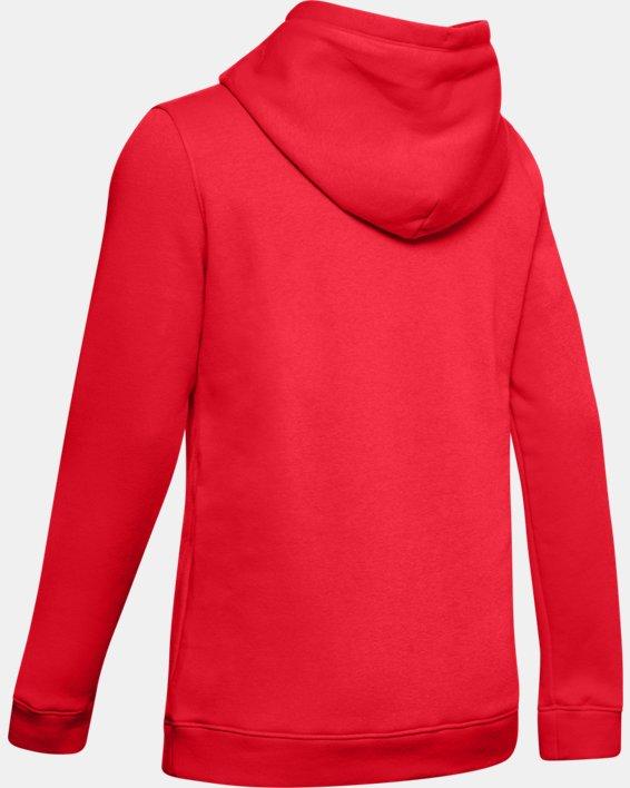 Women's UA Rival Hoodie, Red, pdpMainDesktop image number 7