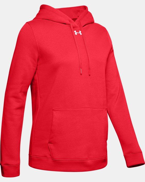 Women's UA Rival Hoodie, Red, pdpMainDesktop image number 6