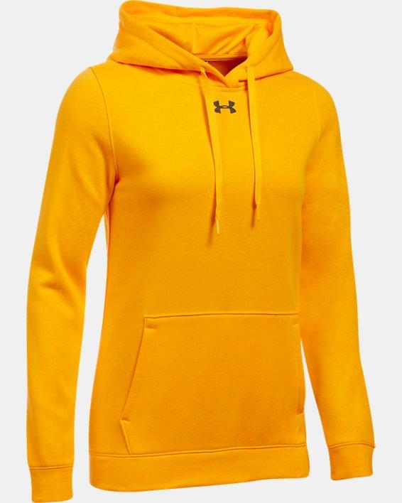 Women's UA Rival Hoodie, Yellow, pdpMainDesktop image number 6