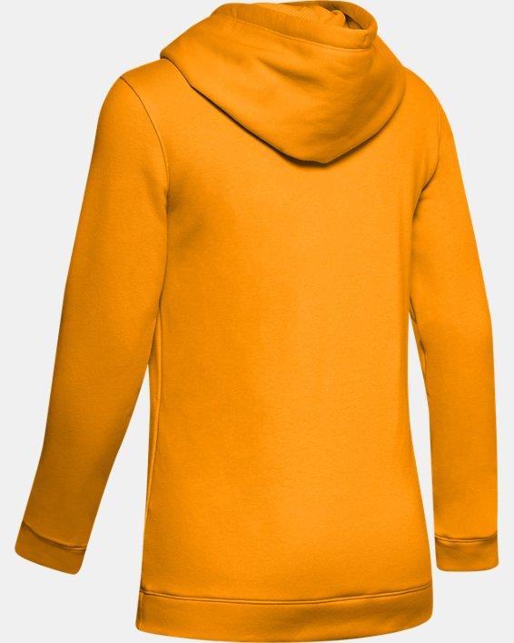 Women's UA Rival Hoodie, Yellow, pdpMainDesktop image number 5