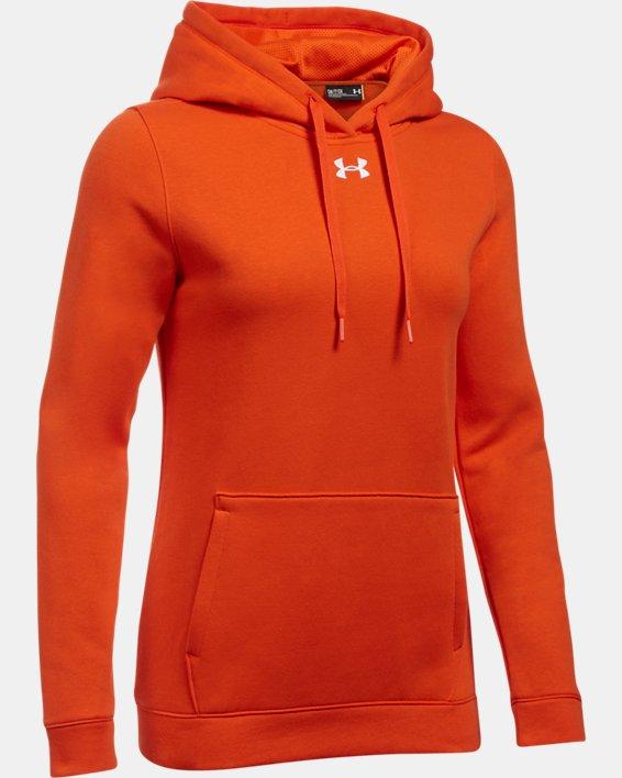 Women's UA Rival Hoodie, Orange, pdpMainDesktop image number 6