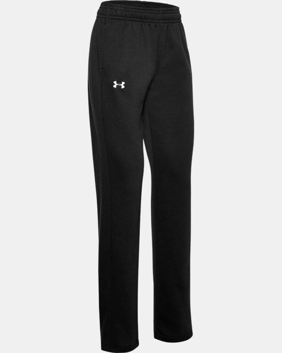 Women's UA Rival Pants, Black, pdpMainDesktop image number 3