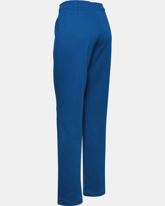 Women's UA Rival Pants, Blue, pdpMainDesktop image number 4