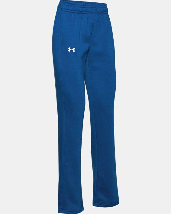 Women's UA Rival Pants, Blue, pdpMainDesktop image number 3