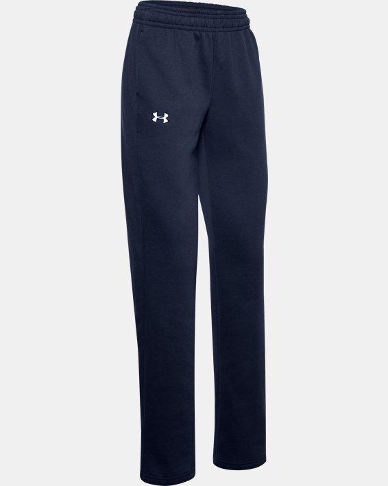 Women's UA Rival Pants, Navy, pdpMainDesktop image number 3