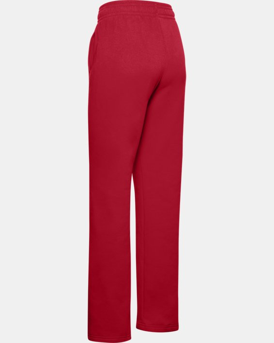 Women's UA Rival Pants, Red, pdpMainDesktop image number 4