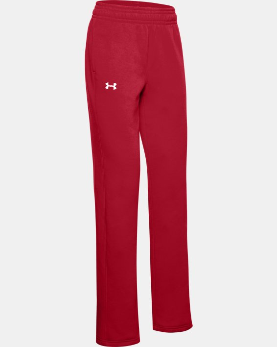 Women's UA Rival Pants, Red, pdpMainDesktop image number 3