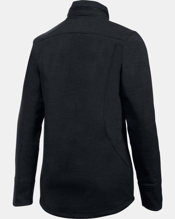 Women's UA Barrage Softshell Jacket, Black, pdpMainDesktop image number 6