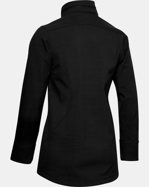 Women's UA Barrage Softshell Jacket, Black, pdpMainDesktop image number 4