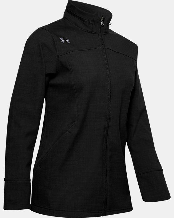 Women's UA Barrage Softshell Jacket, Black, pdpMainDesktop image number 3