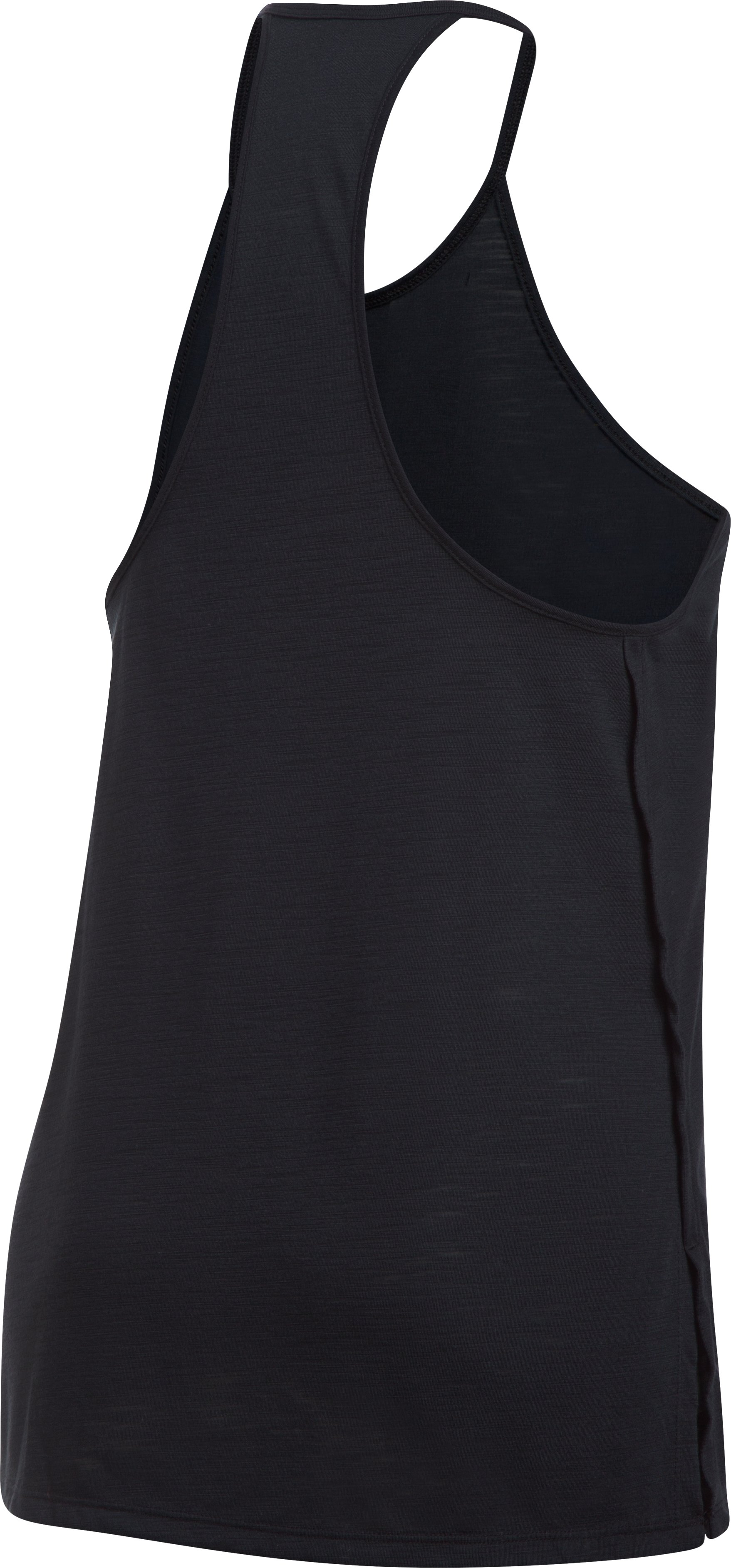 Women's UA Threadborne™ High Neck Tank, Black ,